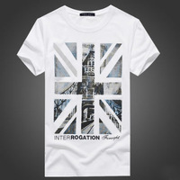 2014 Man T-shirt Men Camisetas Masculinas British Flag T Shirt Casual 95% Cotton Camisas O-neck Tee Shirt Short Sleeve Mens