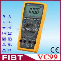 free shipping  Vichy Original VC99 3 6/7 Auto range digital multimeter have bag better FLUKE 17B