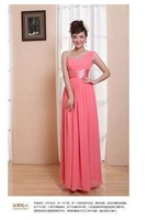2014 new one shoulder PROM dress Birthday party party sexy dress free shipping