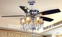 Ceiling fan lamp simple modern 52 Inch chandeliers fan dining room luxury crystal fan lamp F682