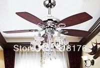 European antique ceiling fan light 42-inch crystal chandelier modern luxury fashion fans fan Konoha 225