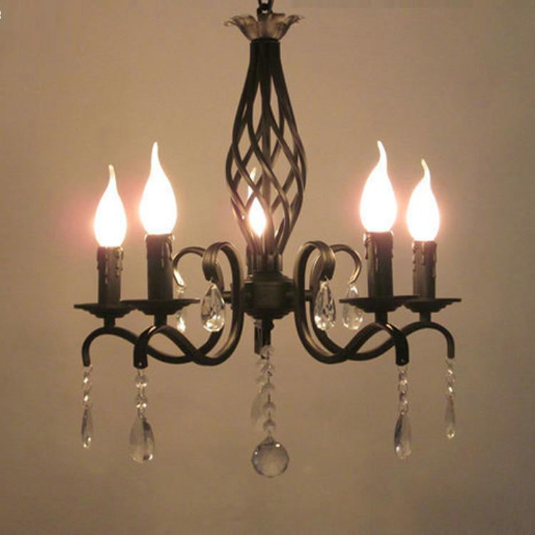 noir antique lustre en fer forg feux de cuisine mini. Black Bedroom Furniture Sets. Home Design Ideas