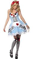 Women Sexy Blue Alice Wonderland Costume  Halloween Cosplay  Fancy Dress Plus Size M L XL XXL