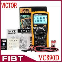 2014 New Upgraded VICTOR VC890D Digital Multimeter True RMS digital multimeter capacitor 2000uF backlit universal table