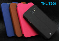 New! Original Fulltao Leather Case for THL T200 T200C Stand Cover Free screen film free Ship