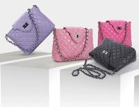 2014 summer European and American classic Parcel women messenger bags sheepskin women leather handbags Plaid chain shoulder bag