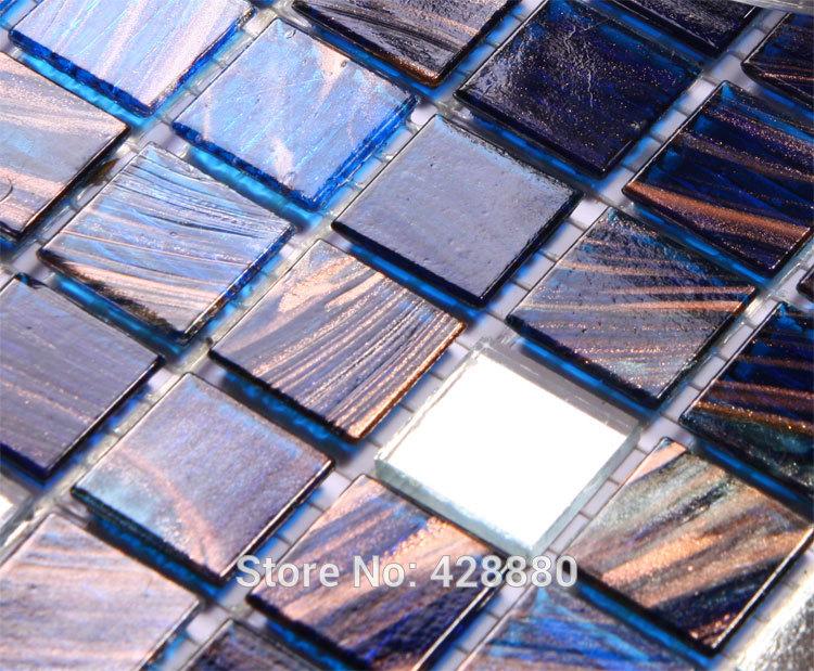 "Crystal glass tile sheets 4/5"" iridescent wall tile backsplash kitchen designs JX005 hand painted vitreous mosaic bathroom tiles(China (Mainland))"