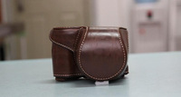 Dark Brown Leather Camera Hard Case Bag Protector for SONY Alpha A5000 ILCE-5000L (16-50mm) black + Free shipping