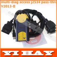 Latest V2013.02 Multi-Di@g Access J2534 Pass-Thru OBD2 Device multi diag VCI,Support Multi-Language, Update 19 brands car models