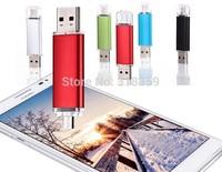 Wholesale Custom OTG Usb flash drive memory u disk 1gb/2gb/4gbg/8gb/16gb/32gb OTG micro USB  free Logo Free shipping