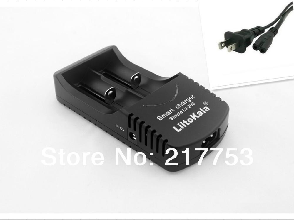 LiitoKala Sii-260 3.7V 18650 26650 18500 16340 1.2V AA /AAA Ni-Mh Smart Battery Charger +US AC line + Free shipping(China (Mainland))