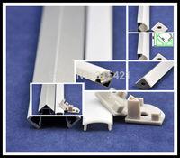 50Pcs/lot LED aluminum slot 12.2*18.5mm led decoration rigid lighting aluminum slot 1M with frost cover Aluminum Groove U53