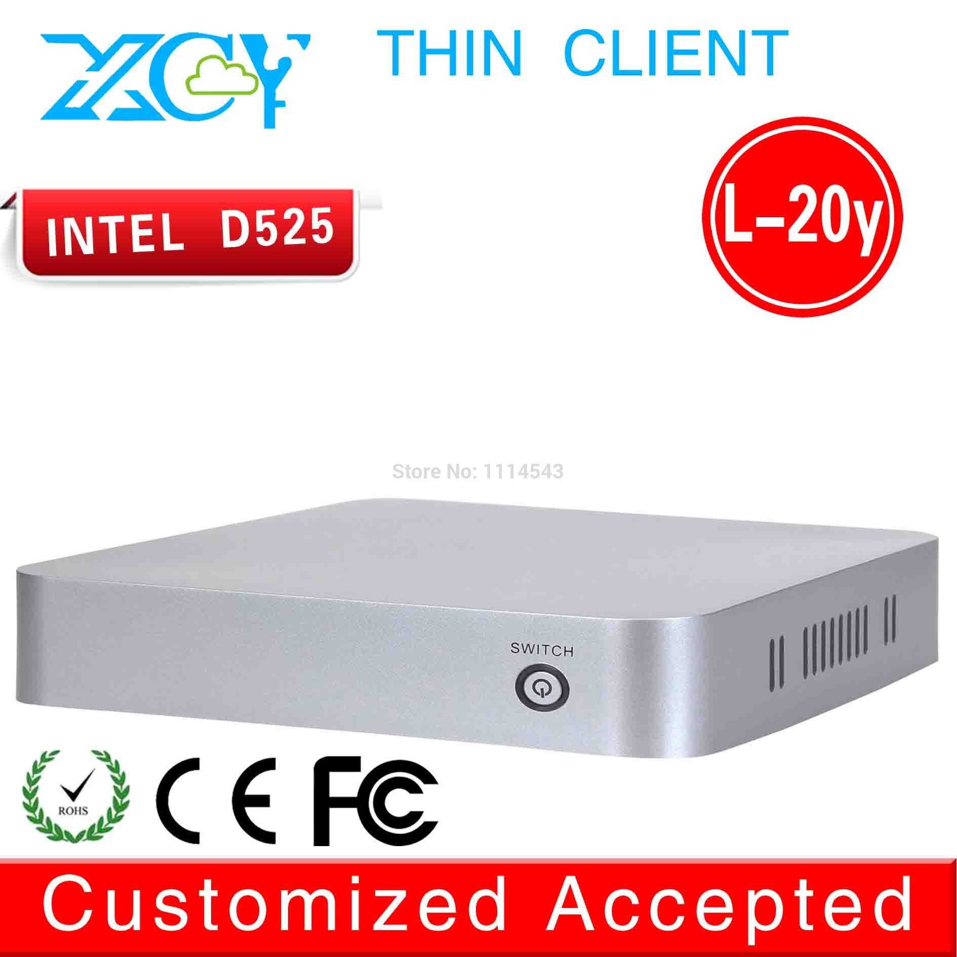 high performance high cpu mini pc l-20y mini business pc intel D525 network atom dual core fan desktop build-in-wifi(China (Mainland))