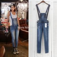 2014 New Autumn Summer Strap jeans Pants Wild Pencil pants Feet denim Jeans Bib Women 7031