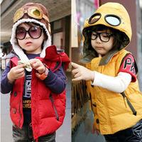 wholesale(4pieces/lot)- child boy and Girl's Hooded Vest children glasses vest