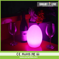 plastic table lamps colourful led egg table lamp for restaurant