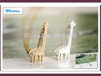 2015 Fashion Animal Necklace 18K Gold/Silver Pretty Alloy Cute Giraffe Necklace ,SN021