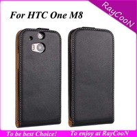 New arrival Nice Quality leather flip cover for HTC ONE M8,real leather protective case purse for HTC ONE m8,mix color