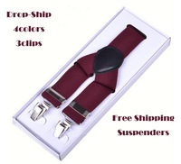 fashion braces male women's suspenders clip suit business casual western-style trousers elastic spaghetti strap clip
