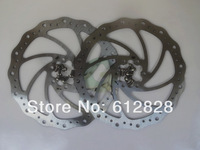 2 x 160mm Disc Brake Rotor for SHIMANO AVID 6 Bolt IS with colour
