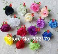 200pcs/lot Decorative Flowers Silk Rose Heads Wholesale Lots Wedding Decorations Cheap  15 Colors