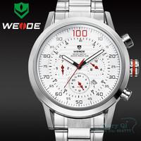 2015 WEIDE Fashion LCD Backlight Dual Time Watch Men Quartz Wristwatch Men's Watch Free Ship