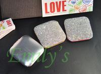 New Bling Bling Luxury Handmade Claw Set Rhinestone Crystal Mini Pocket Make-Up Mirror Compact Mirror