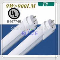 Wholesale UL List Led Tube Light T8 600mm 60cm 2ft 9W >900lm high Lumen 100LM/W 5 Years Warranty