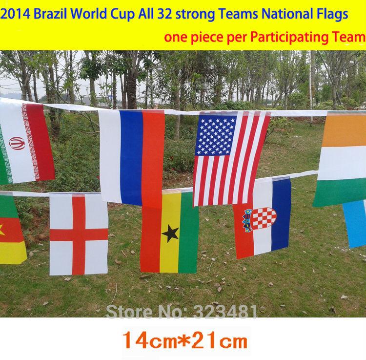 las banderas nacionales: