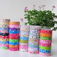 LOT 10PCS floral lace washi paper tissue japanese masking  tape DIY sticker