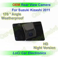 Free shipping! HD Rear View CCD night vision car reverse camera for Suzuki Kizashi 2011, auto license plate light camera