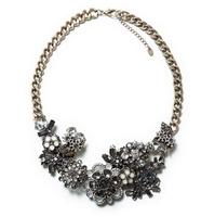 2014 New Arrive Unique Choker Flower Necklace Vintage Crystal Choker Statement  Necklace & Pendant For Women