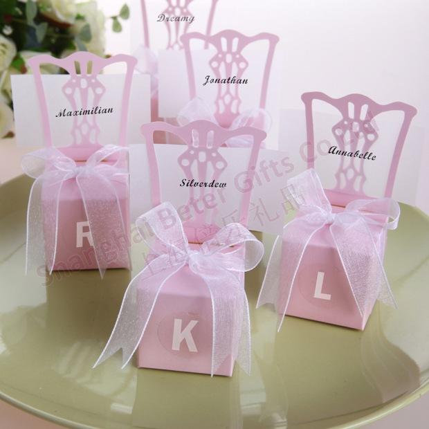 132pcs free shipping wedding anniversary pink favor box party venue