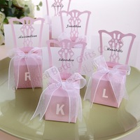 132pcs Free Shipping Wedding Anniversary Pink Favor Box, party venue decoration ideas TH005-B2