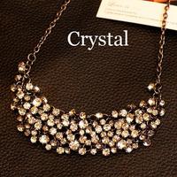 New Designer 100+ pcs Full Rhinestones Sweater Big Star Style Choker Necklace Summer Jewelry Women 2014 CS13