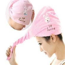 mode haare Abtrocknen wrap hut kappe turban turbie twist schleife haar magische Föhn handtuch(China (Mainland))