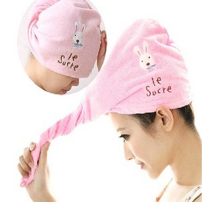 Fashion Hair Towel Drying Wrap Hat Cap Turban Turbie Twist Loop Hair Magical Hair Dryer Towel(China (Mainland))