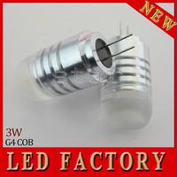 free shipping Ultra Bright LED lamp G4 COB 1LED 1.5W Droplight LED Bulb 12V Crystal Chandelier Non-polar LED light
