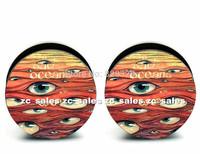 Wholesale 60pcs eyes logo ear plug Aarylic screw fit ear plug flesh tunnel body piercing mix size 6mm-25mm A0153