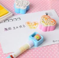 Free ship 1lot=16pcs/korean stationery kawaii Lovely butterfly stamp Cartoon animal students DIY seal school supplies wholesale