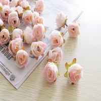 2014 Sale Seconds Kill 100pcs/bag 2.7cm Diameter Silk Rose Flower Head Decoration Handmade Diy Wedding Car Artificial