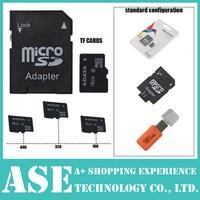 1pcs TF CARD+Free shipping+ Free adapter+ White retail box+Gift card Reader memory card 128MB -64GB Micro SD card HC Transflash