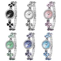 Brand KIMIO Bracelet Watches Shamrock Women Dress Watches Diamond Quartz Wristwatches Luxury High Quality Stainless 2014