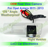 Free shipping! HD Rear View Opel Antara 2011- 2013 CCD night vision car reverse camera auto license plate light camera