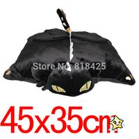 Anime Animal HOW TO TRAIN YOUR DRAGON Night Fury Transforming Firedragon Soft Plush TOOTHLESS Pillow Cushion Black 15 inch