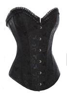 Free Shipping Black Sleepwear Sexy Women Lace Tops Steel Bustier Lingerie Overbust Corset Dresses 3XL Plus Size Corset Dropship
