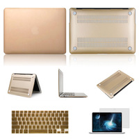 """For Macbook pro 13.3"""" 15.4"""" A1278 A1286 Transparent Matte Hard Skin Champagne Gold Case Sleeve&Keyboard Cover&Screen Protector"""