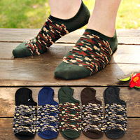 fashion male Camouflage cotton socks,male sock invisible socks vintage