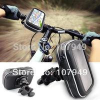 "5"" Waterproof 360 Motorcycle Bike Cycling GPS Case/Bag+Mount Holder for GPS Smartphone Samsung NOTE2/N7100 S4 S3 IPHONE"