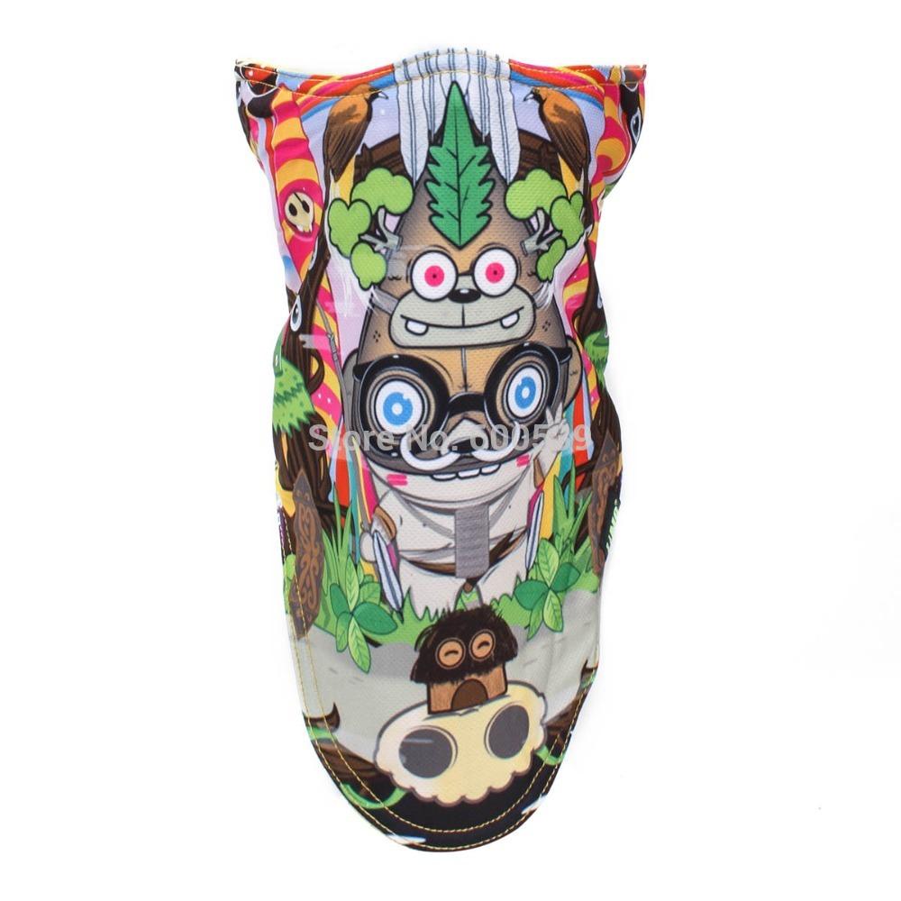 Fashion Outdoor Ski Snowboard Motorcycle cycling Winter Warmer Mask Pirates 3D Printed Triangular Scarf Skiing Mask(China (Mainland))